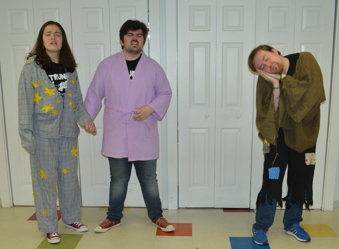 Students from the Tufts University Drama Department delighting kids at Sunshine Nursery School with their original plays and engaging songs and skits.