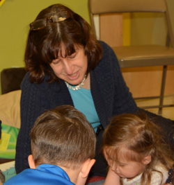 Mrs. O'Connell, lead teacher for threes classroom at Sunshine Nursery School.