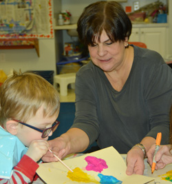 Mrs. Lepore, teacher for younger fours classroom at Sunshine Nursery School.